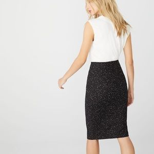 NWOT RW&CO High-Waist Printed Modern Pencil Skirt